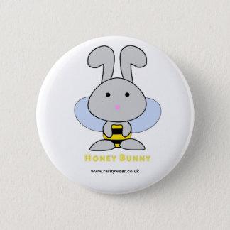 Honey Bunny 2 Inch Round Button