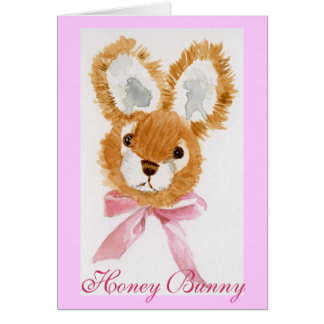 """Honey Bunny"" cuddly toy Card"
