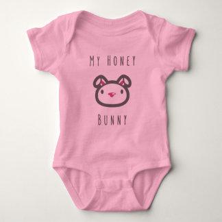 Honey Bunny  For Girls Baby Bodysuit
