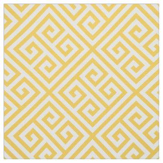 Honey Butter Greek Key Pattern Fabric