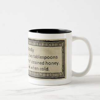 Honey Candy Antique Recipe Rustic Stained Two-Tone Coffee Mug