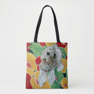 Honey Cocker Spaniel Dog Painting Tote Bag