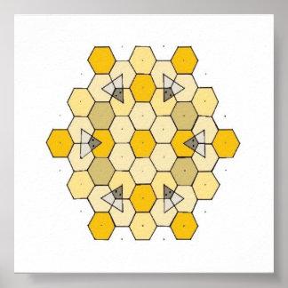 Honey Comb Rangoli Poster