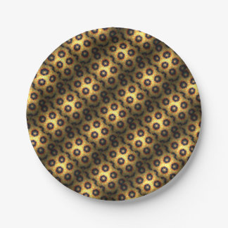 Honey comb style computer graphic paper plate