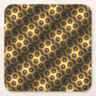 Honey comb style computer graphic square paper coaster