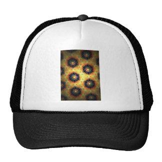 Honey comb style computer graphic trucker hat
