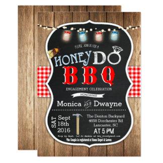 Honey Do BBQ Couples Engagement Invitation