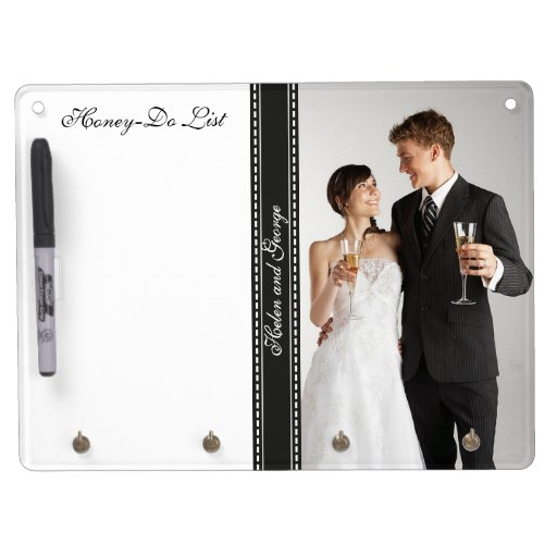 Honey-Do List for Honeymooners Wedding Photo Dry Erase Boards