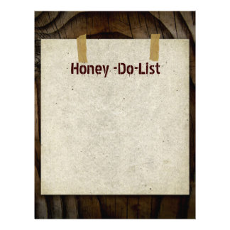 Honey-Do-List Letterhead Stationery