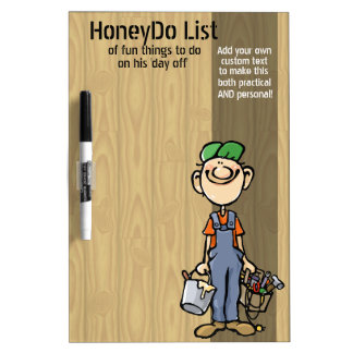 Honey Do List.To do.Funny.Custom.Handy Man.Message Dry Erase Board