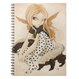 Honey- fairy with honey badgers spiral notebook