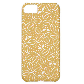 Honey Gold Leaf & Butterfly iPhone5 Case Cover For iPhone 5C