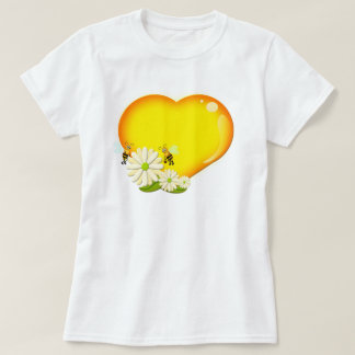 Honey heart, Bees and Flowers Tees