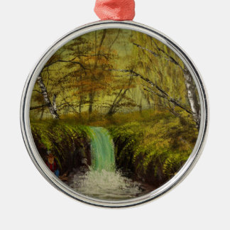 Honey Hole by Jack Lepper Silver-Colored Round Ornament