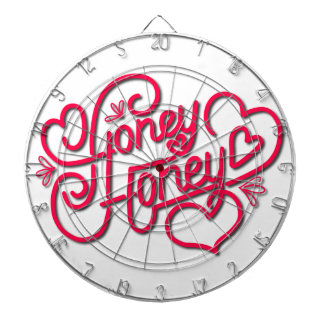 HONEY HONEY CALLIGRAPHY DARTBOARD
