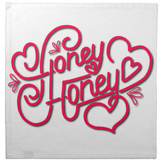HONEY HONEY CALLIGRAPHY NAPKIN