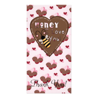 Honey I Love You Heart Custom Photo Card