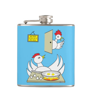 Honey, I'm Home Chickens Flasks