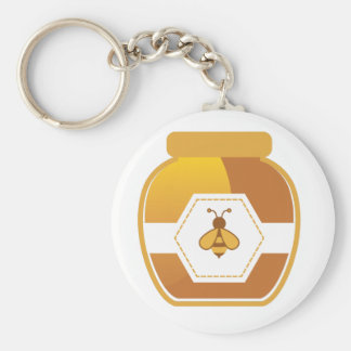 Honey Jar Basic Round Button Keychain