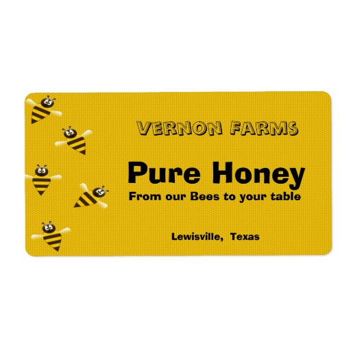 Witty image for honey jar labels printable