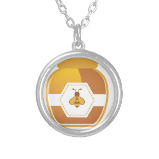 Honey Jar Silver Plated Necklace