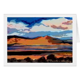 Honey Lake Sunset watercolor Card