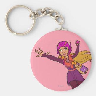 Honey Lemon Pink Suit Basic Round Button Keychain