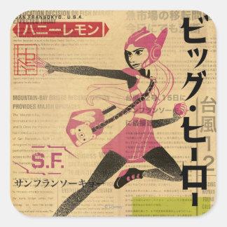 Honey Lemon Propaganda Square Sticker