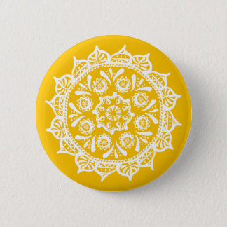 Honey Mandala 2 Inch Round Button