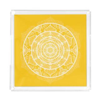 Honey Mandala Acrylic Tray