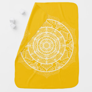 Honey Mandala Baby Blanket