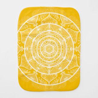 Honey Mandala Burp Cloth
