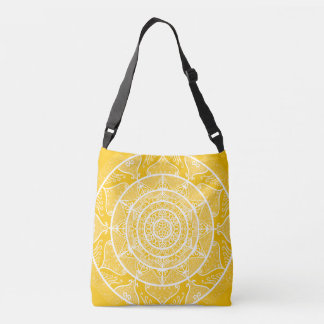 Honey Mandala Crossbody Bag