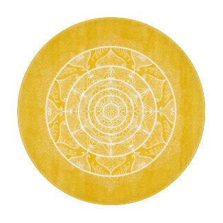 Honey Mandala Cutting Board