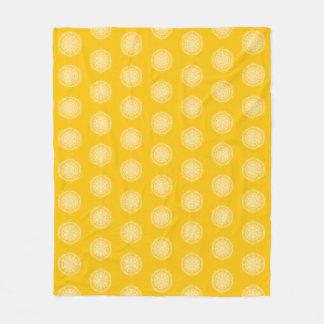 Honey Mandala Fleece Blanket
