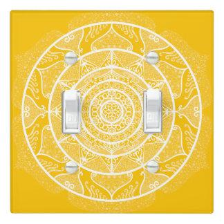 Honey Mandala Light Switch Cover