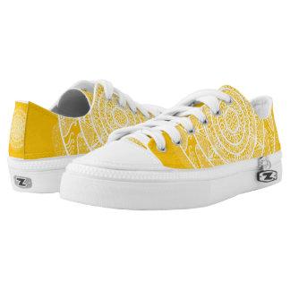 Honey Mandala Low-Top Sneakers