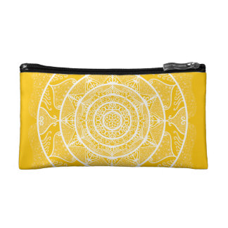 Honey Mandala Makeup Bag