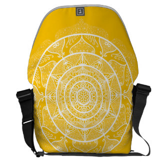 Honey Mandala Messenger Bag
