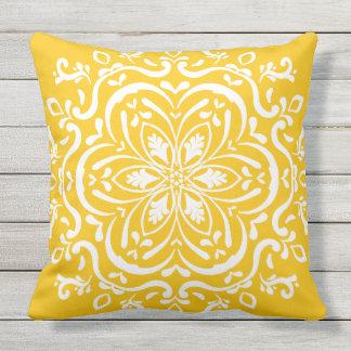 Honey Mandala Outdoor Pillow