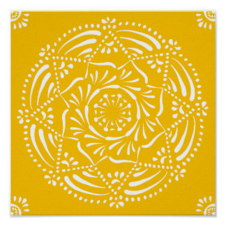 Honey Mandala Poster