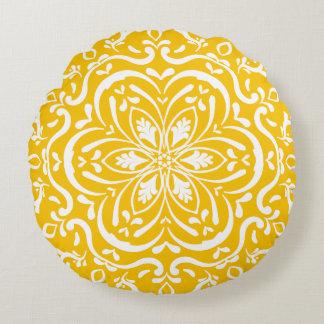 Honey Mandala Round Pillow