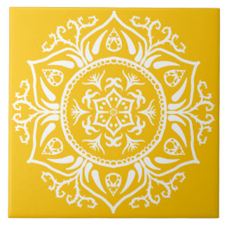Honey Mandala Tile
