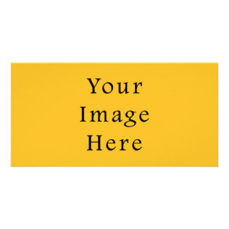 Honey Mustard Yellow Color Trend Blank Template Personalized Photo Card