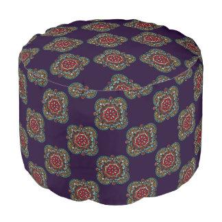 Honey nest - chic mandala pattern bohemian art pouf