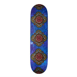 Honey nest - psychedelic bohemian mandala stylish skateboards