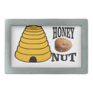 honey nut rectangular belt buckle
