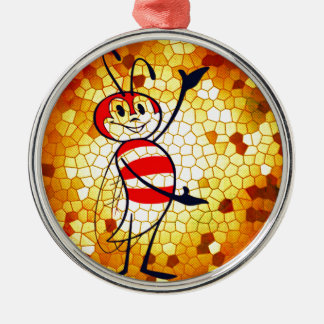 HONEY OF A HOME Silver-Colored ROUND ORNAMENT