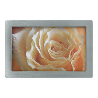 Honey Peach Rose Rectangular Belt Buckles