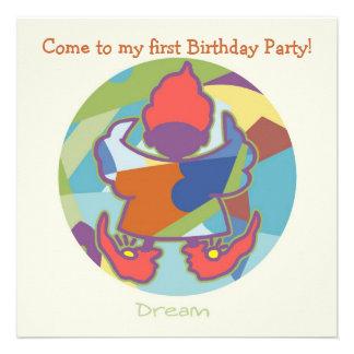 Honey Pie - Dream (Boy)  Party invitation card